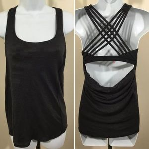 Lululemon 2 Striped Moment To Movement Tank Top